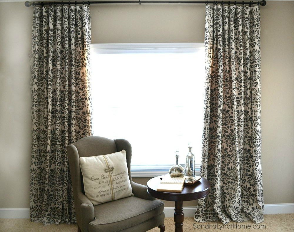 Drop cloth curtains dyed - Cover Drop Cloth Curtains In Stencil Designs