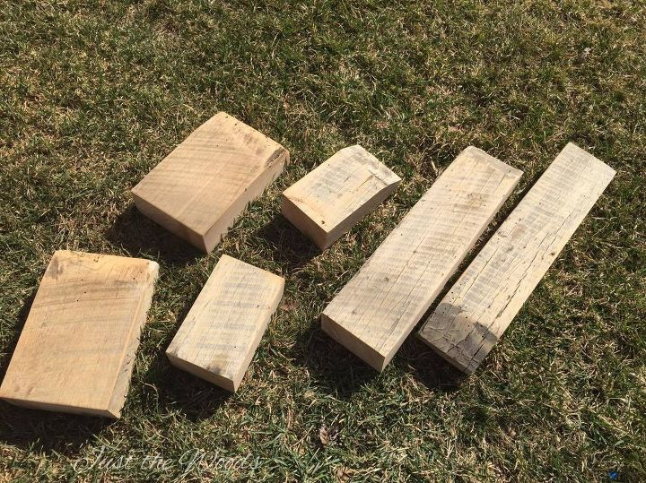 rustic barn wood tea light candle holders, crafts, woodworking projects