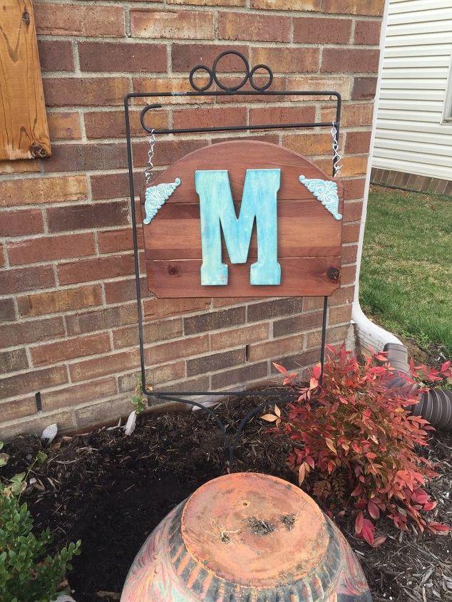 easy monogram yard plaque hometalk