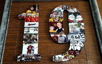Preserving Memories ~ DIY Photo Collage on Wood Numbers!