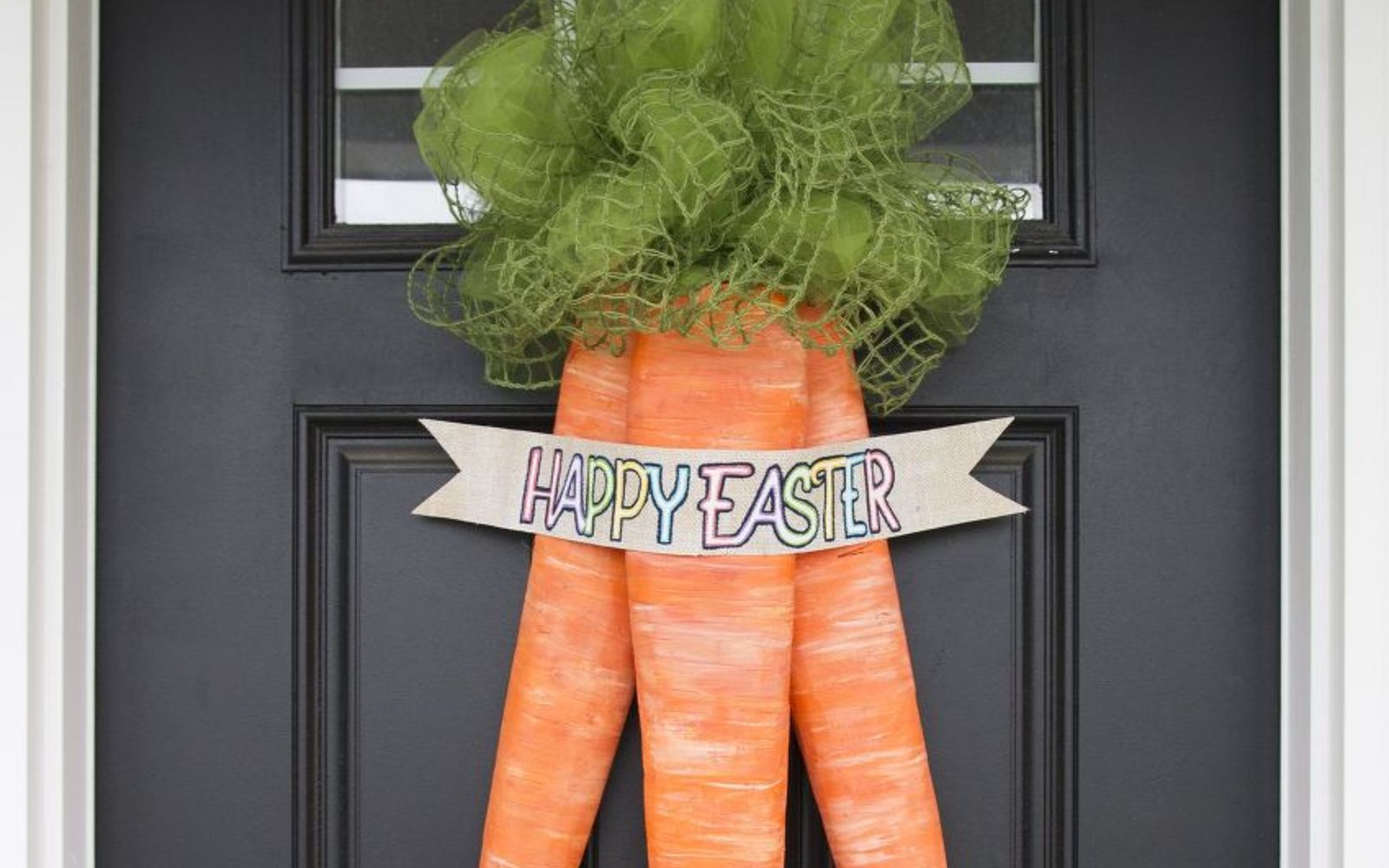 s 31 gorgeous spring wreaths that will make your neighbors smile, crafts, seasonal holiday decor, wreaths, Carve foam core into a carrot bunch