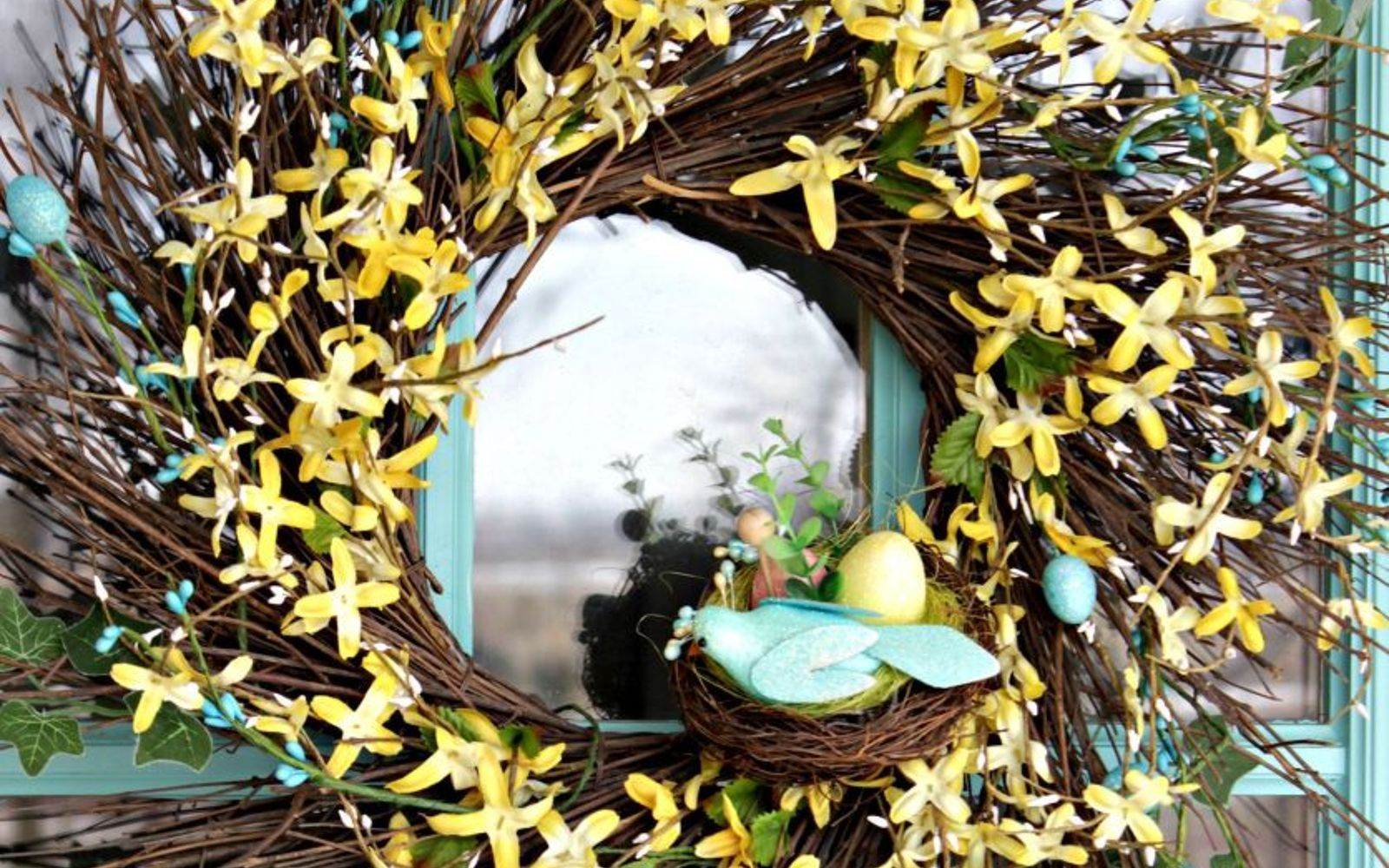 s 31 gorgeous spring wreaths that will make your neighbors smile, crafts, seasonal holiday decor, wreaths, Weave a fun floral wreath