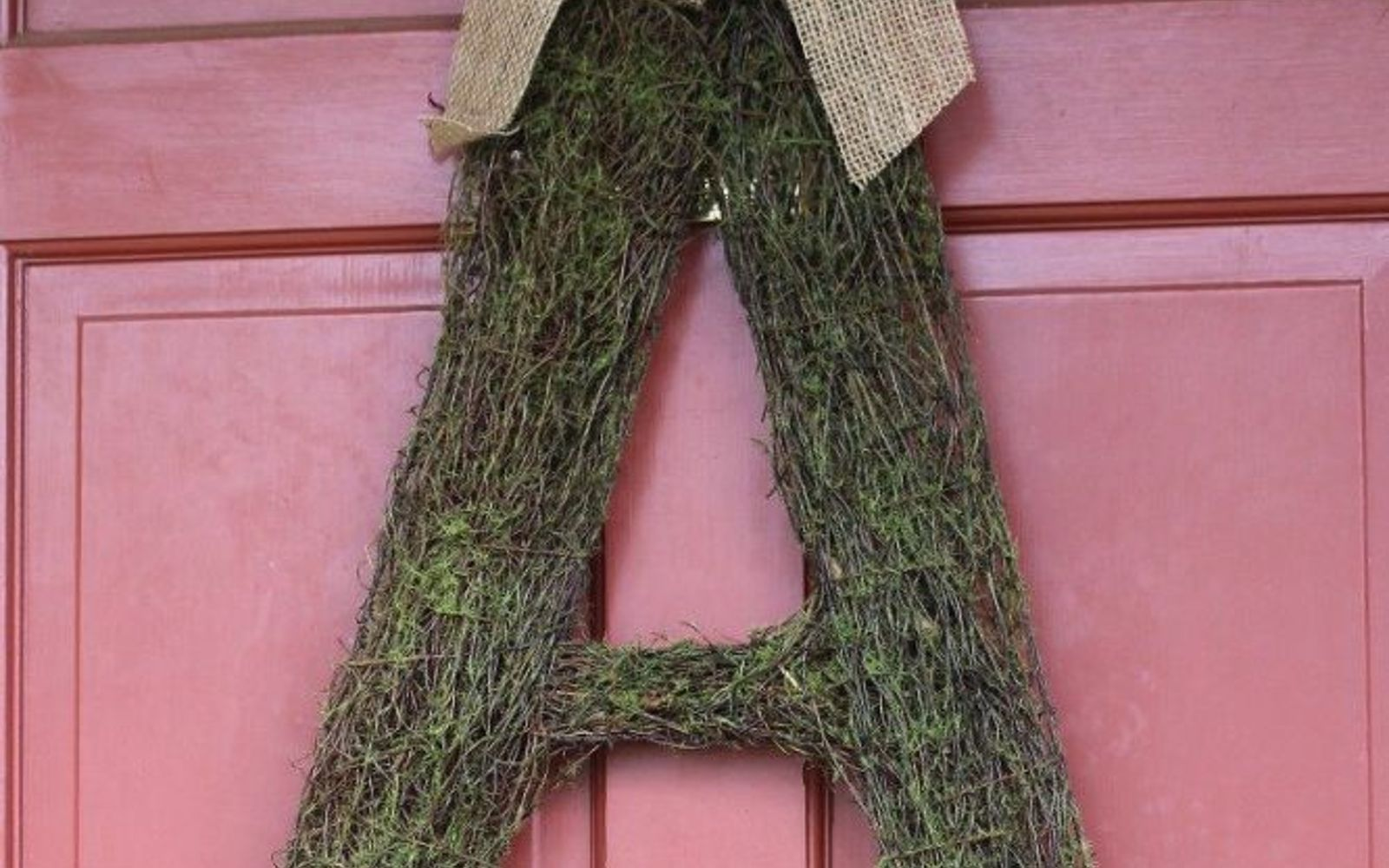 s 31 gorgeous spring wreaths that will make your neighbors smile, crafts, seasonal holiday decor, wreaths, Make a mossy monogram