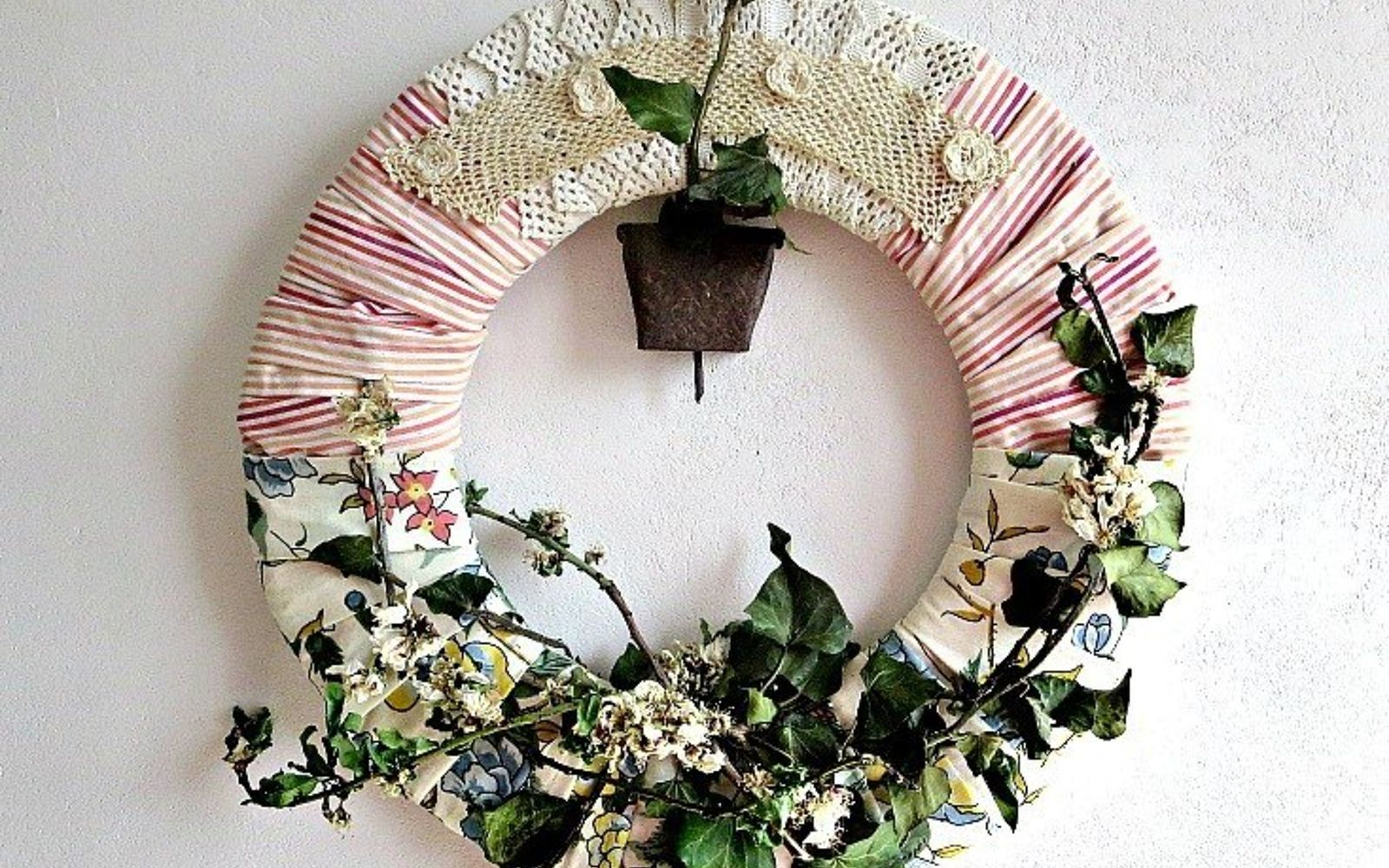 s 31 gorgeous spring wreaths that will make your neighbors smile, crafts, seasonal holiday decor, wreaths, Incorporate some real branches from outside