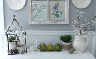 simple spring mantel, fireplaces mantels, home decor, seasonal holiday decor