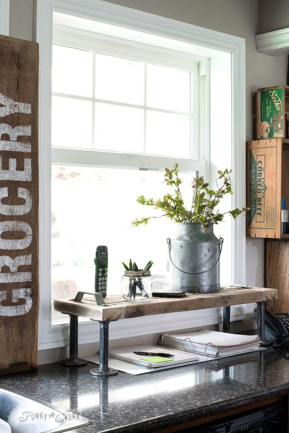 how i doubled my kitchen counter space thanks to a 2x4, kitchen design, shelving ideas, woodworking projects