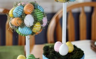 easter egg topiary perfect to display year after year, crafts, easter decorations, seasonal holiday decor