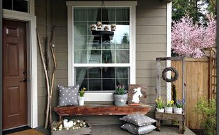 Decorating the front porch for easter hometalk for Cute front porches