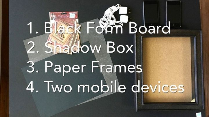harry potter inspired picture frame crafts repurposing upcycling wall decor - Moving Picture Frame