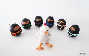 diy easter ninja eggs, crafts, easter decorations, seasonal holiday decor