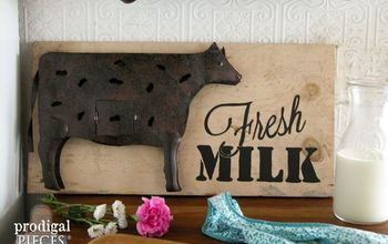 Repurposed Farmhouse Metal Art From Thrift Store Finds