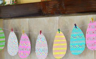 washi tape egg garland, crafts, easter decorations, seasonal holiday decor