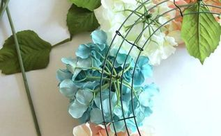 easy diy hydrangea wreath, crafts, hydrangea, wreaths