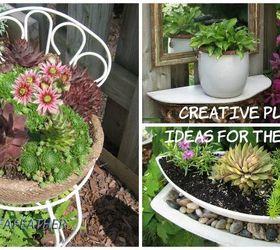 Creative Planter Ideas For The Garden, Container Gardening, Flowers,  Gardening, Outdoor Furniture