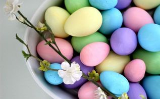 diy painted easter eggs, crafts, easter decorations, home decor