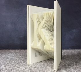 folded books crafts how to repurposing upcycling k