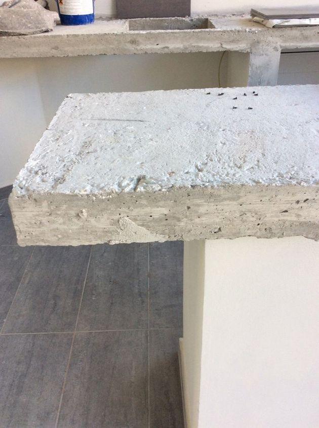q making a concrete countertop, concrete masonry, countertops