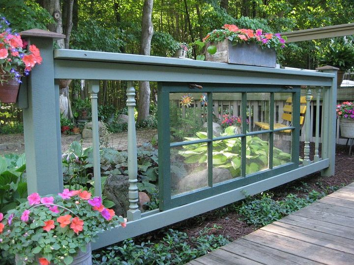 s 15 privacy fences that will turn your yard into a secluded oasis, curb appeal, fences, Upcycle a window in your fence