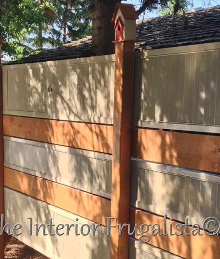 s 15 privacy fences that will turn your yard into a secluded oasis, curb appeal, fences, Bring some repurposed doors into your design