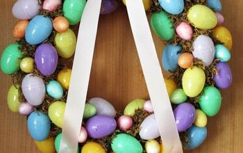 easter egg wreath for under 5, crafts, easter decorations, seasonal holiday decor, wreaths