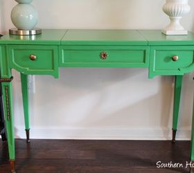 Make An Old Desk Vibrant Green And Gold