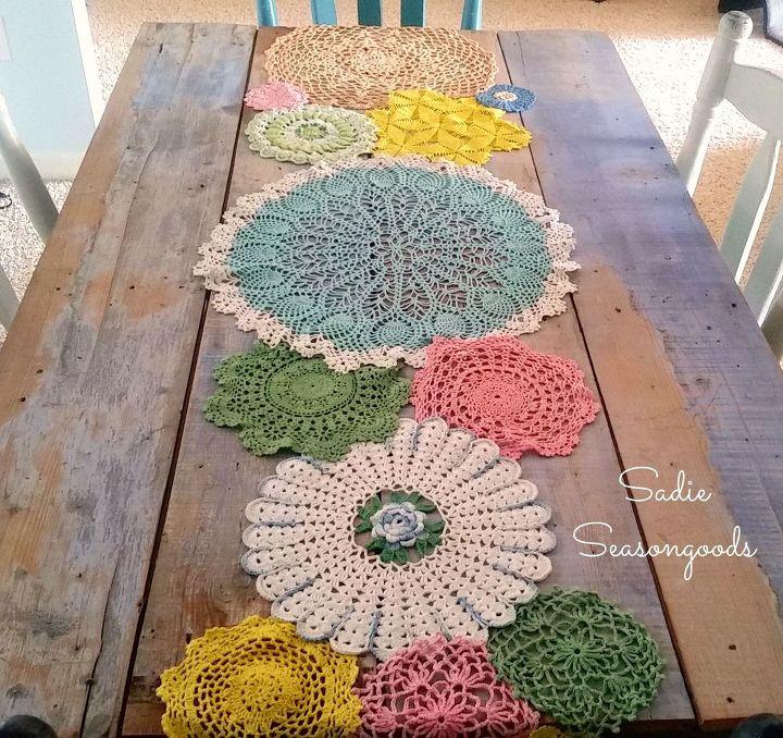 Fabulous Spring Doily Table Runner | Hometalk TL46