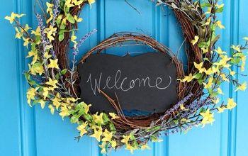Forsythia & Lavender Spring Wreath
