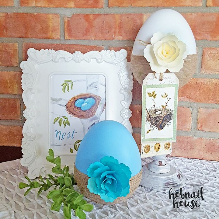 easter eggs in a nest, crafts, easter decorations, seasonal holiday decor