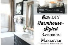 our diy farmhouse styled master bathroom renovation, bathroom ideas, home improvement, rustic furniture