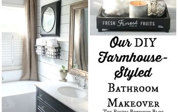 Our DIY, Farmhouse-Styled Master Bathroom Renovation