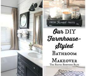 Our Diy Farmhouse Styled Master Bathroom Renovation, Bathroom Ideas, Home  Improvement, Rustic Furniture ...