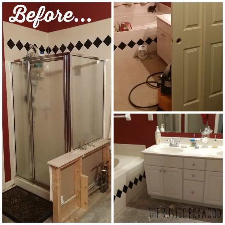 Our Diy Farmhouse Styled Master Bathroom Renovation Ideas Home Improvement Rustic Furniture