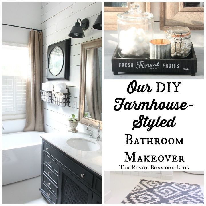 our diy farmhouse styled master bathroom renovation, bathroom ideas, home improvement, rustic furniture