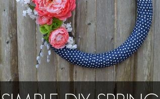 diy simple spring wreath tutorial, crafts, how to, seasonal holiday decor, wreaths