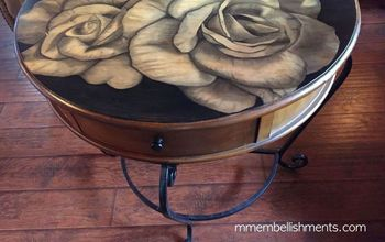 She Uses Stain to Refresh a Furniture Piece Into a Piece of Art