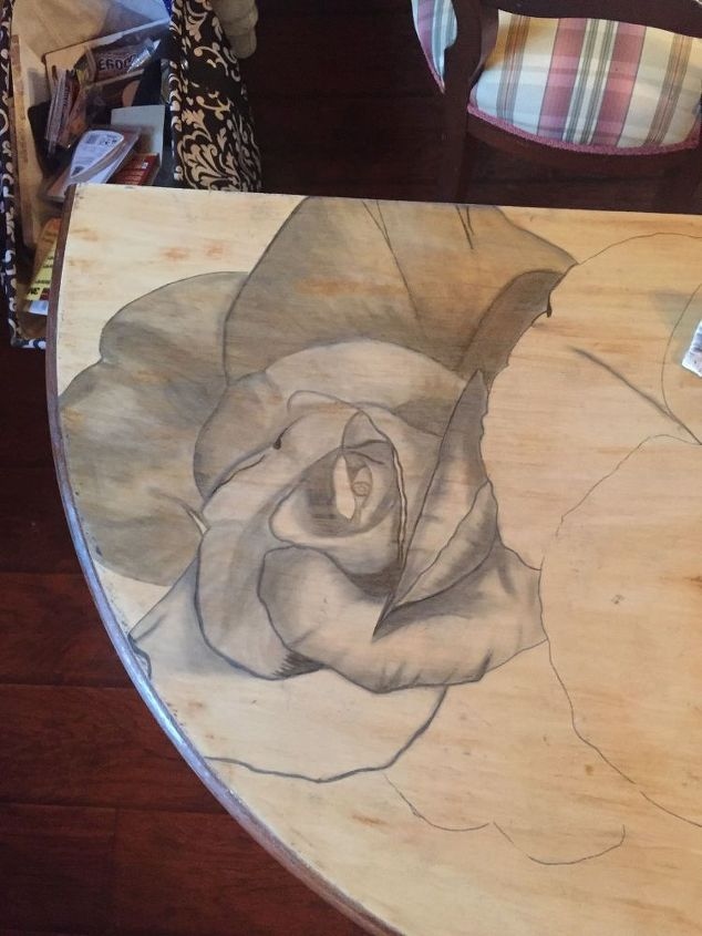 she uses stain to refresh a furniture piece into a piece of art, crafts, painted furniture, shabby chic