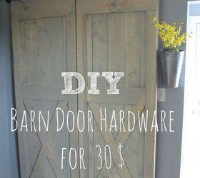 30 easy sliding barn door hardware diy doors kitchen design rustic furniture & 30$ Easy Sliding Barn Door Hardware | Hometalk