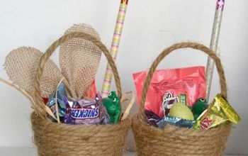 diy mini easter baskets, crafts, easter decorations, seasonal holiday decor