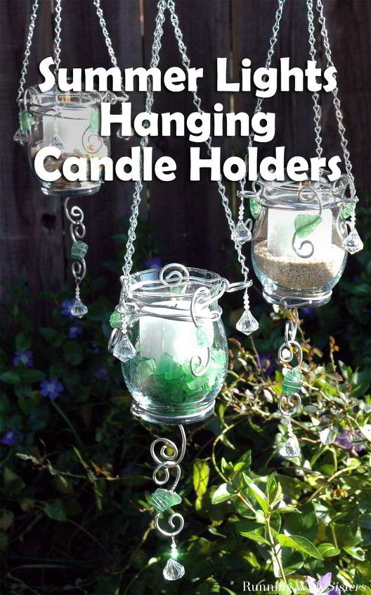 summer lights hanging candle holders, crafts, outdoor living
