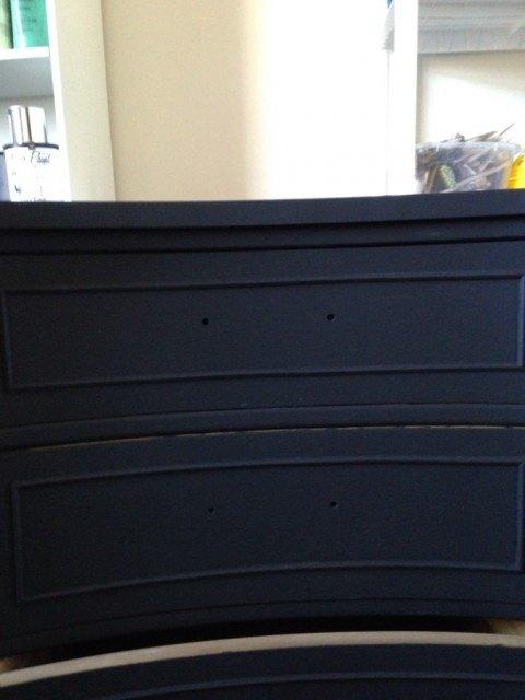 black vintage dresser with gold leafing, painted furniture
