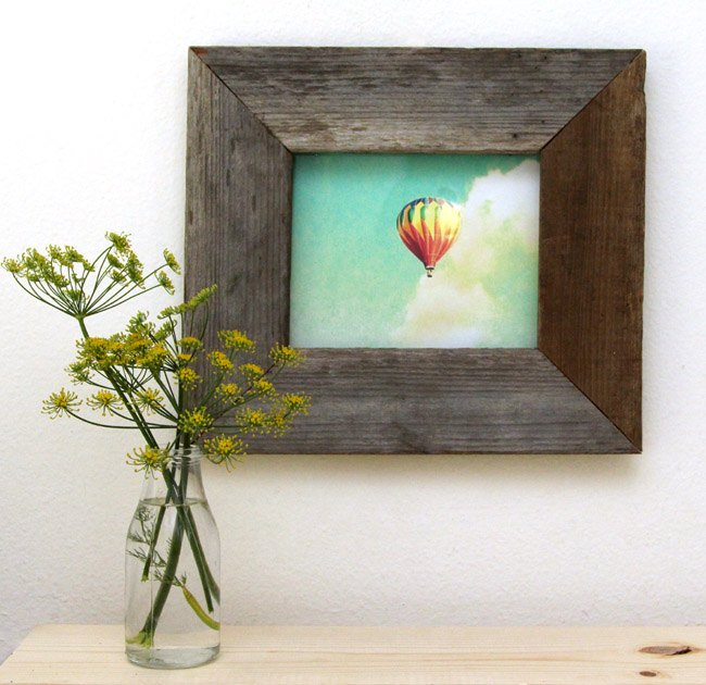 Turn An Old Picture Frame Into A Barnwood Crafts How To Wall