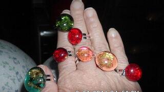 , Rings made using nail polish