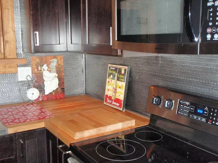 13 incredible kitchen backsplash ideas that aren 39 t tile hometalk - Kitchen backsplash ideas ...