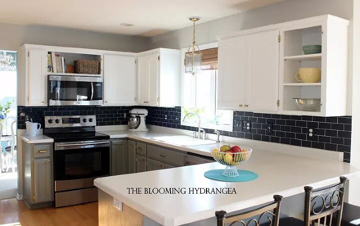 Make Faux Subway Tile With Chalkboard Paint