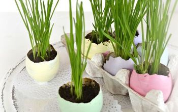 Easter Egg Planters for Wheatgrass (in Pretty Pastels)