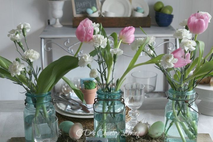 Rustic Spring Tablescape Home Decor Seasonal Holiday