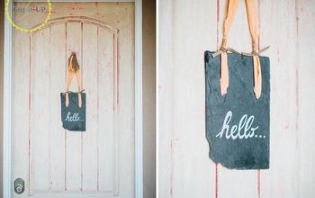 Repurposed Slate Welcome Sign