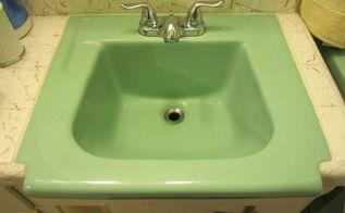 Q How To Fix Hole In Vintage Porcelain Sink Bathroom Ideas Home Maintenance Repairs Matthew Gingerella