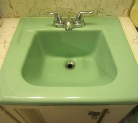 Q How To Fix Hole In Vintage Porcelain Sink, Bathroom Ideas, Home  Maintenance Repairs