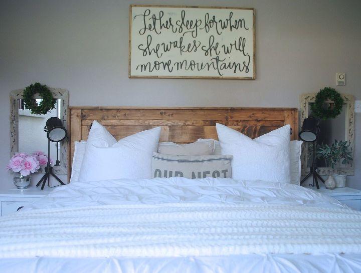 farmhouse bedroom upgrade part one, bedroom ideas, rustic furniture